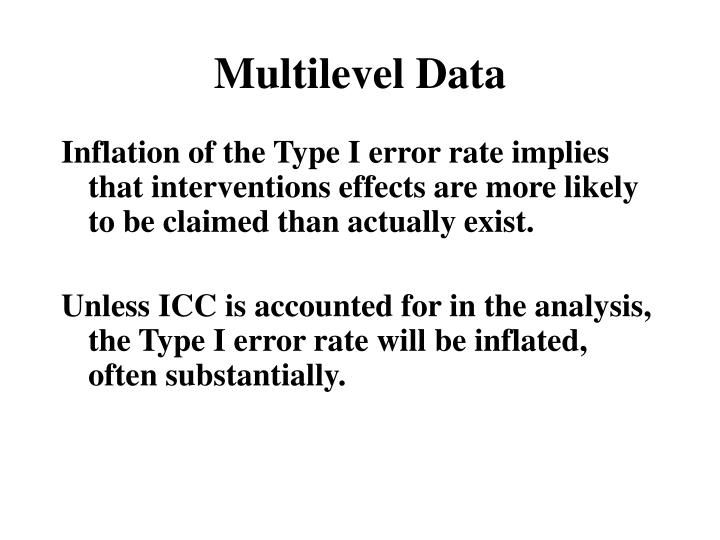 Multilevel Data