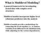 what is multilevel modeling