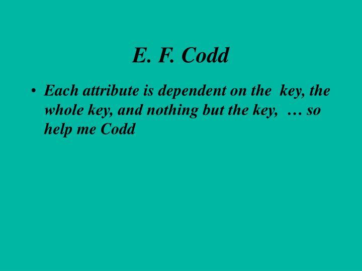 E. F. Codd