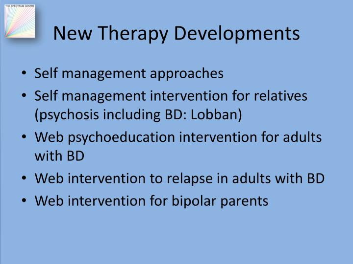 New Therapy Developments