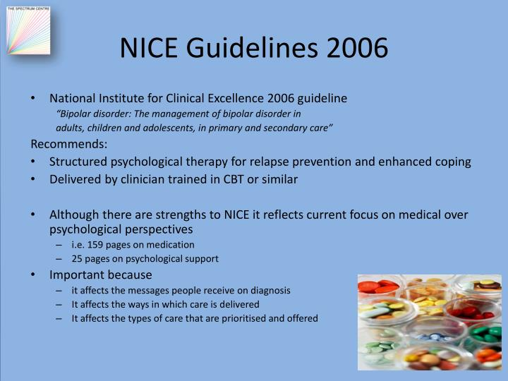 NICE Guidelines 2006