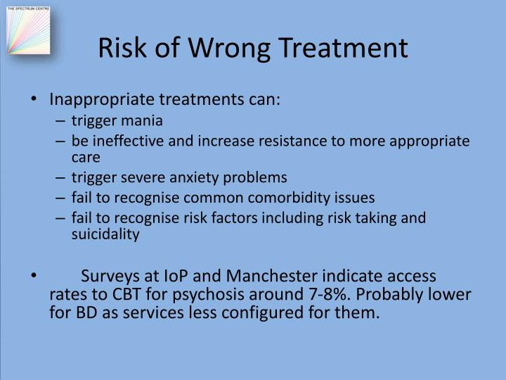 Risk of Wrong Treatment