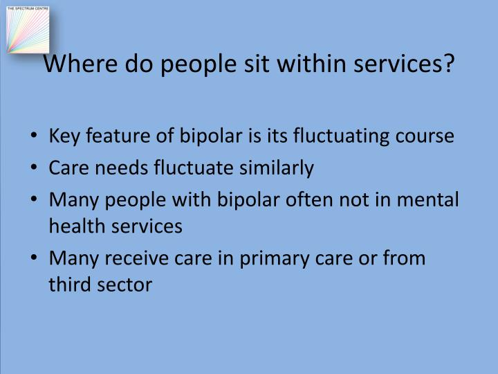 Where do people sit within services?