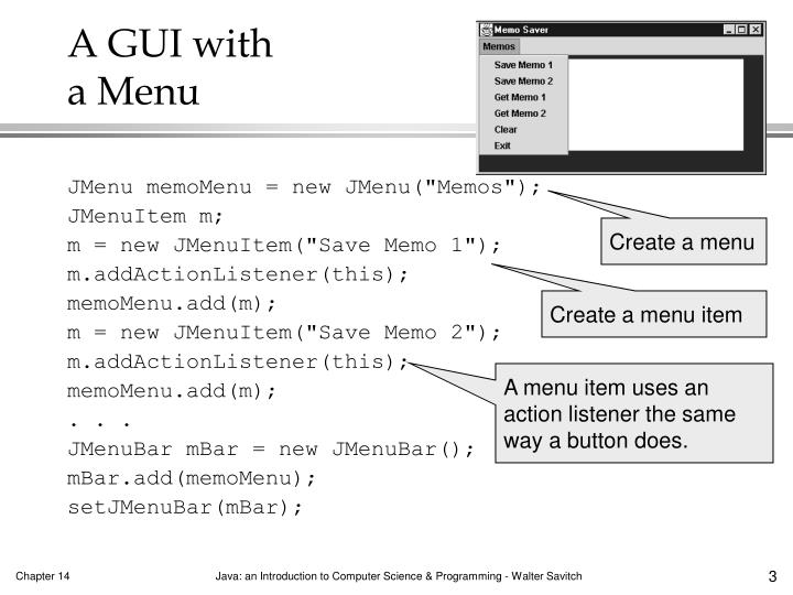 A GUI with