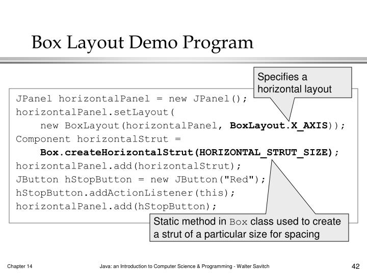 Box Layout Demo Program