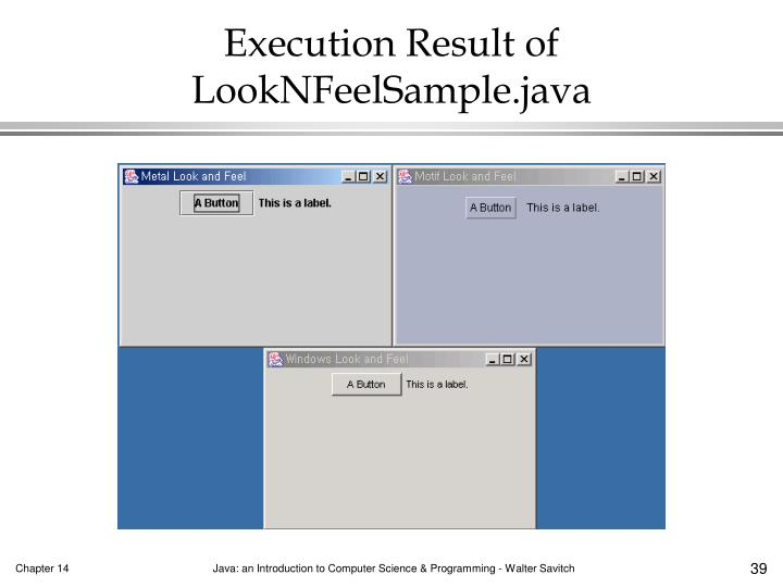 Execution Result of