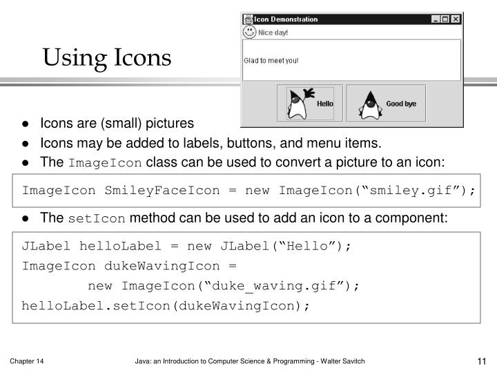 Using Icons