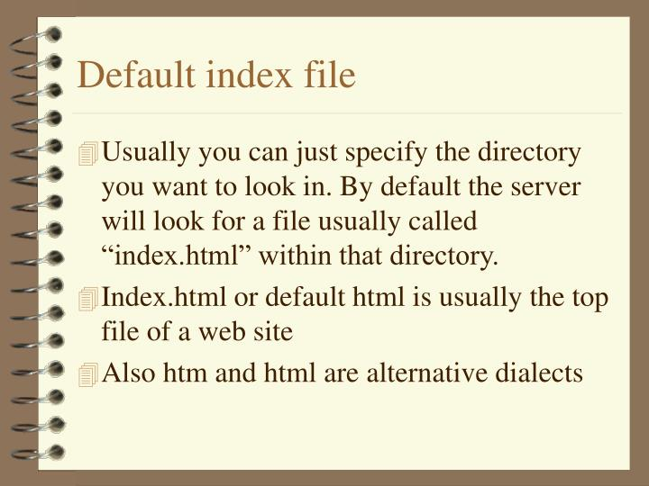 Default index file