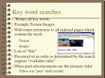 key word searches