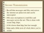 secure transmission
