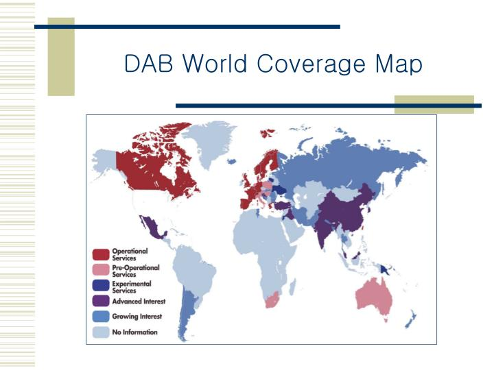 DAB World Coverage Map
