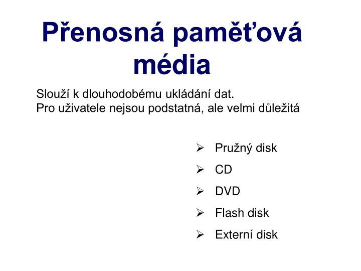 Přenosná paměťová média