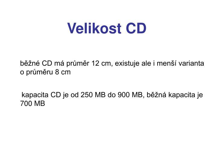 Velikost CD