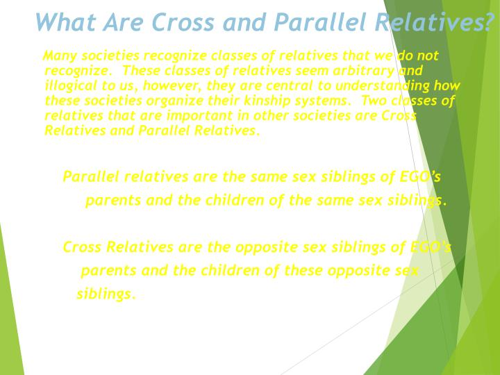 What Are Cross and Parallel Relatives?