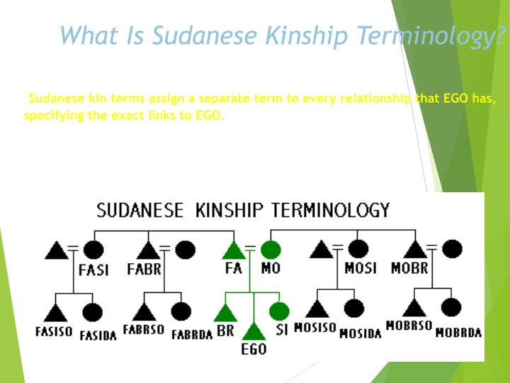 What Is Sudanese Kinship Terminology?