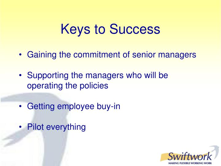 Gaining the commitment of senior managers