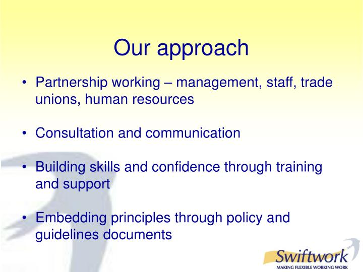 Partnership working – management, staff, trade unions, human resources