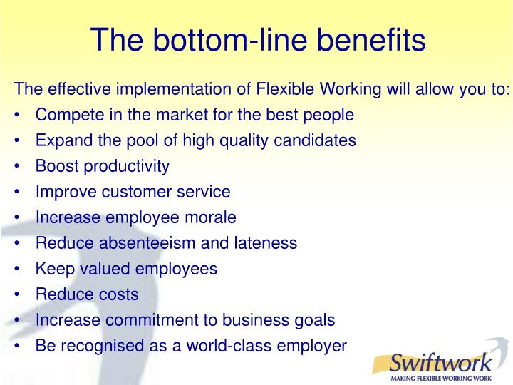 The bottom-line benefits