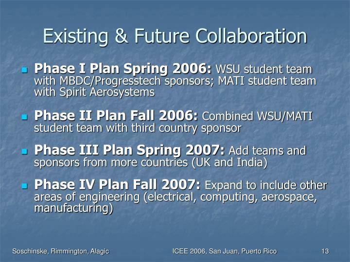 Existing & Future Collaboration