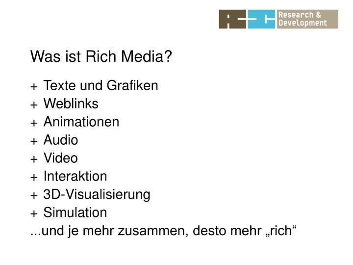 Was ist Rich Media?