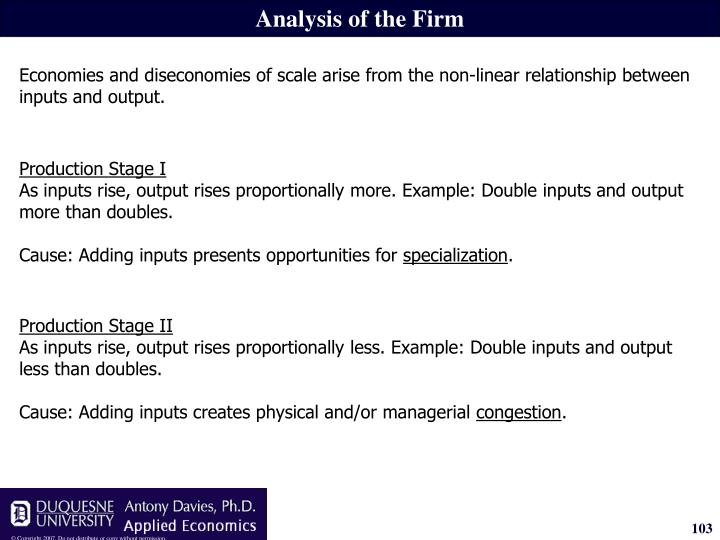 Analysis of the Firm