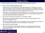 benefits of money