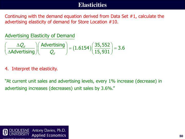 Elasticities