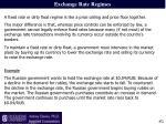exchange rate regimes1