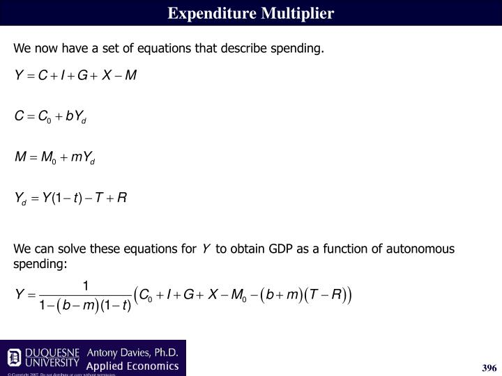 We can solve these equations for