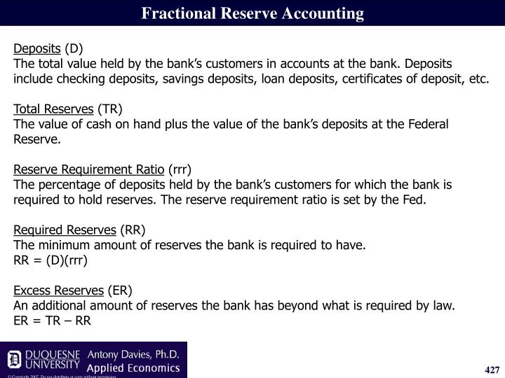 Fractional Reserve Accounting