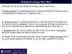 hedging exchange rate risk