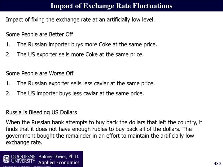 Impact of Exchange Rate Fluctuations