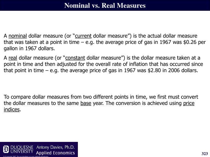 Nominal vs. Real Measures