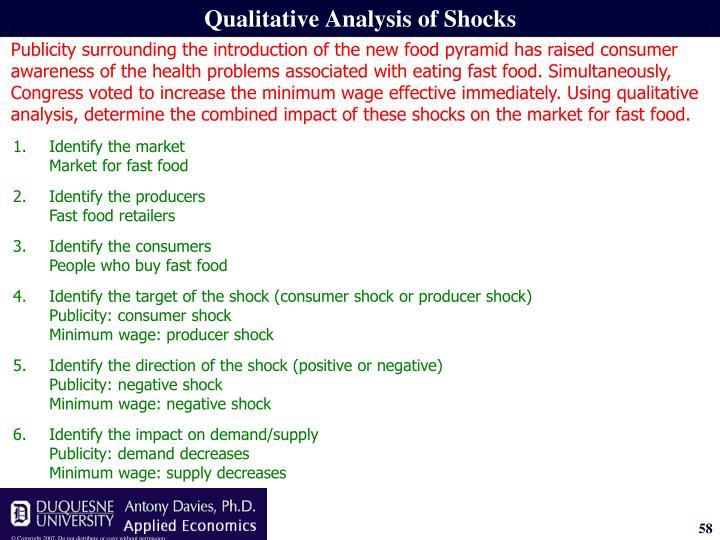 Qualitative Analysis of Shocks