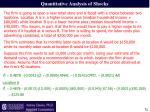 quantitative analysis of shocks11
