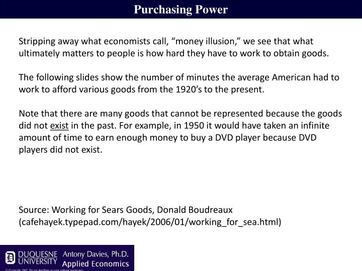 Purchasing Power