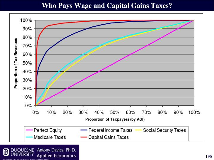 Who Pays Wage and Capital Gains Taxes?