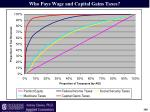 who pays wage and capital gains taxes