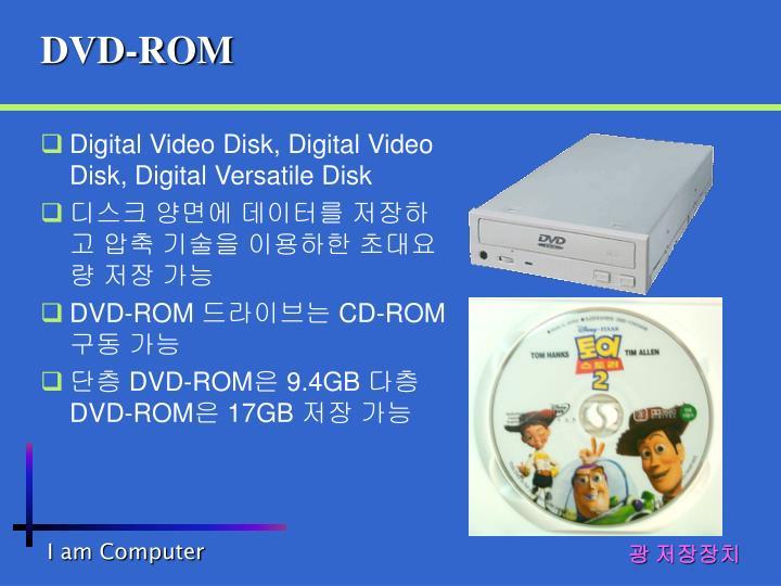 Digital Video Disk, Digital Video Disk, Digital Versatile Disk