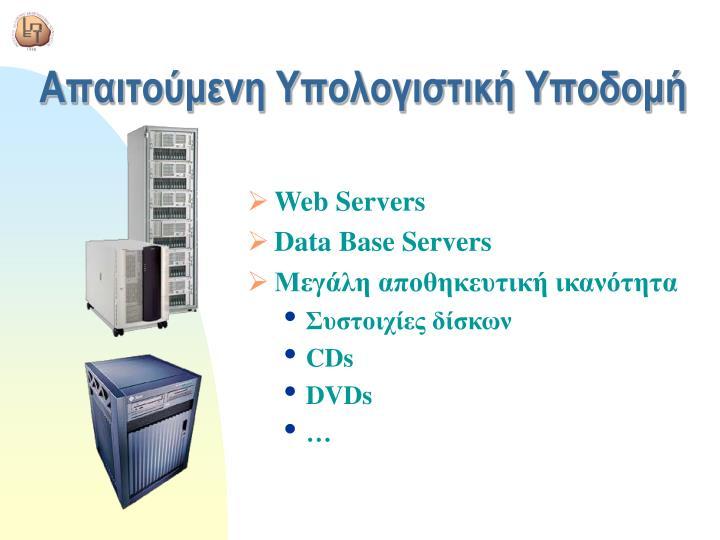 Απαιτούμενη Υπολογιστική Υποδομή
