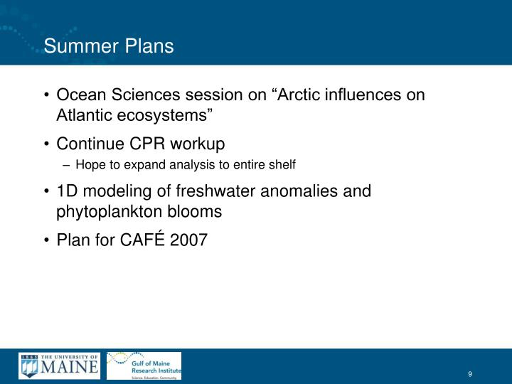 "Ocean Sciences session on ""Arctic influences on Atlantic ecosystems"""