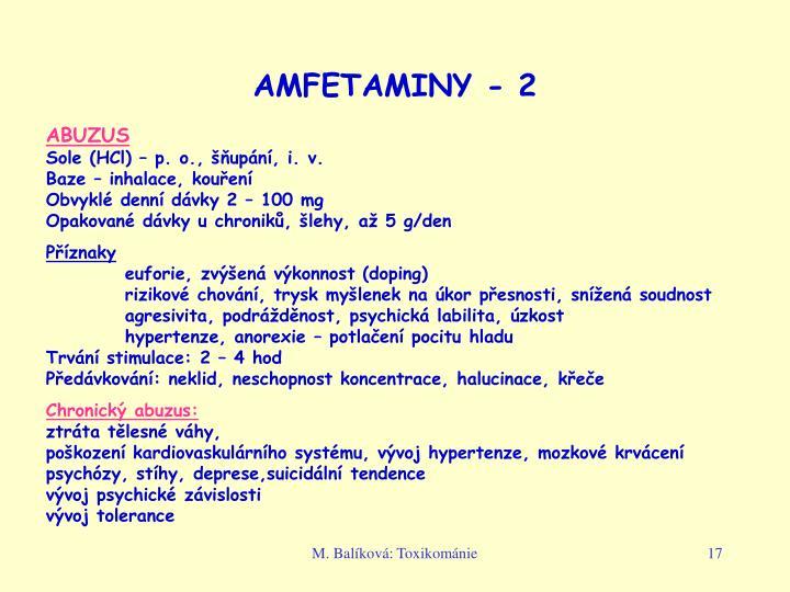 AMFETAMINY - 2