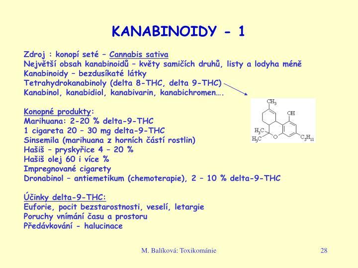 KANABINOIDY - 1