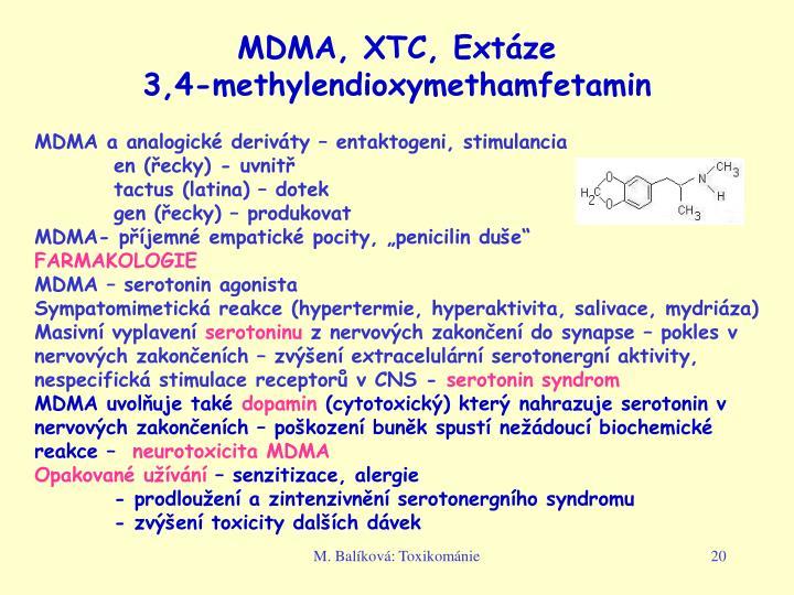 MDMA, XTC, Extáze