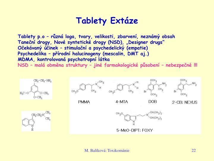 Tablety Extáze