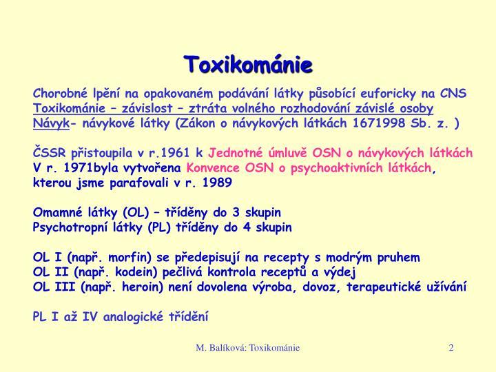 Toxikománie