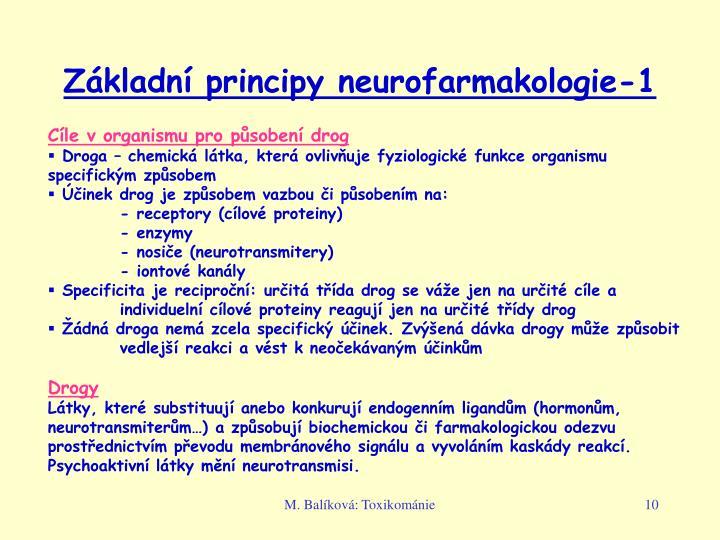 Základní principy neurofarmakologie-1