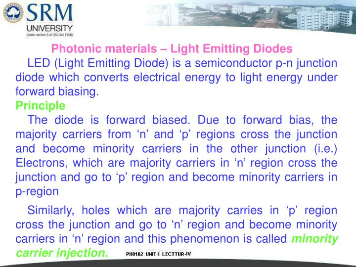 Photonic materials – Light Emitting Diodes