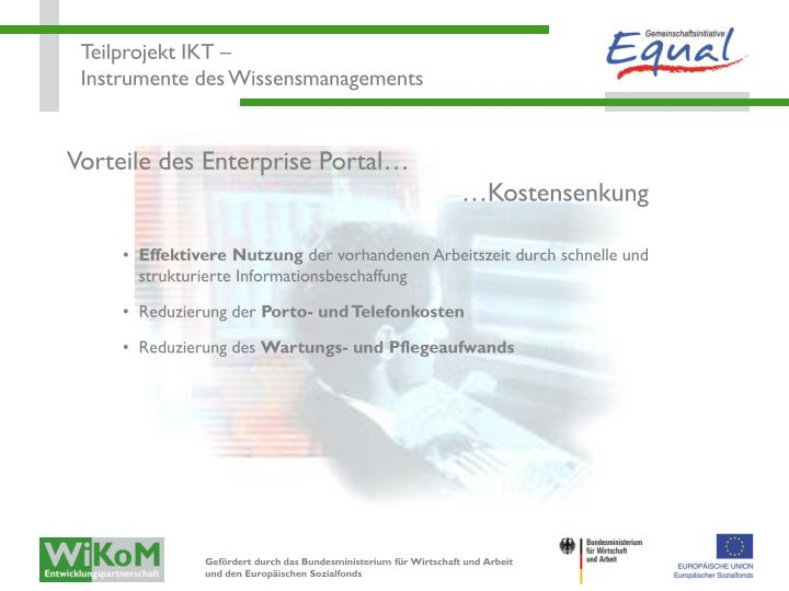 Vorteile des Enterprise Portal…