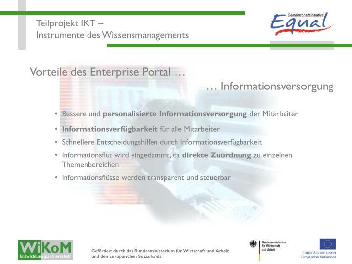 Vorteile des Enterprise Portal …
